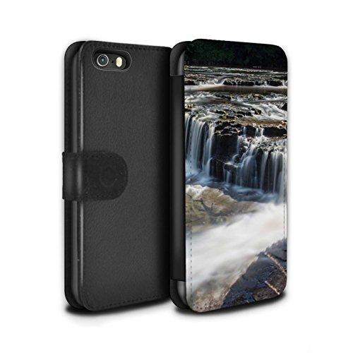 Stuff4 Coque/Etui/Housse Cuir PU Case/Cover pour Apple iPhone 5/5S / Pont Design / Cascades Collection Bas-Fonds