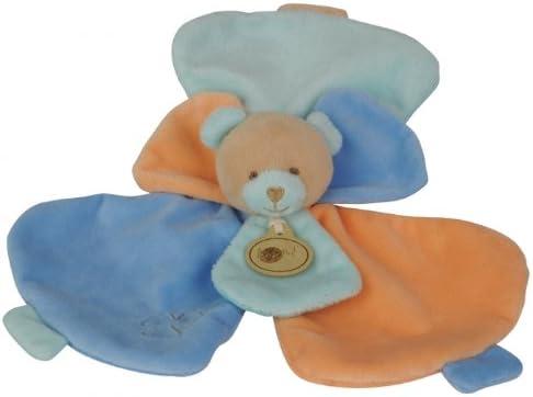 Babynat - Doudou Ours Flower - - - Semi plat en pétale fleur - 25 cm - Doudou douceur BN652 - Bleu orange et vert genre bébé fille ou garçon   Outlet Store En Ligne  3811eb