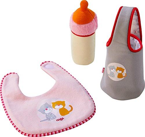 r-Set Jule | Puppenzubehör für Babypuppe Jule | Set aus Lätzchen, Flasche und Flaschenhalter | Spielzeug ab 1 Jahr ()