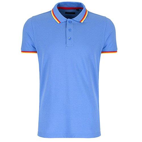 Brave Soul Herren Poloshirt Blau - Blassblau