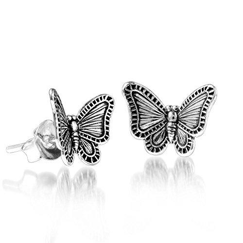 ecker Schmetterling 925 Sterling silber antik klein #SO-146 ()