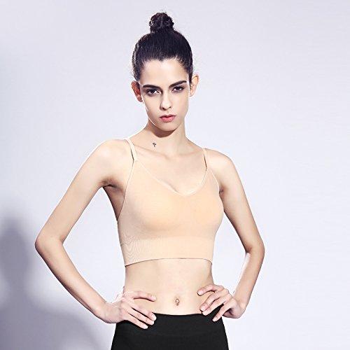 zhudj Campagne Soutien-gorge Soutien-gorge Gilet Laufen pour fille Aucun Anneau Acier Yoga Entraînement ne laisse pas de soutien-gorge de sport Fitness femmes 2
