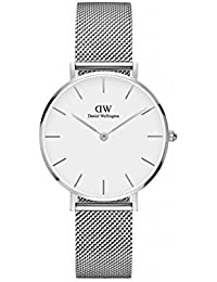 Daniel Wellington Damen-Armbanduhr Analog Quarz One Size, weiß, silber