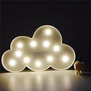 Aardvark Art LED Nachtlichter Stimmungslicht Schreibtischlampen Party Babyzimmer Kinderzimmer Dekorationen Geschenke (Weiß Wolke)