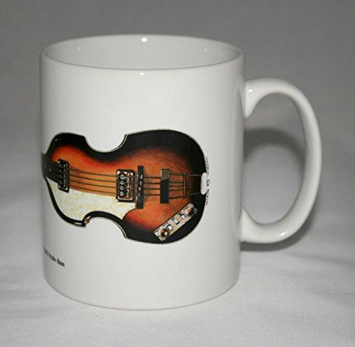 Taza de guitarra. Ilustración de Hofner 500/1 Violin Bass 1963 de Paul McCartney.