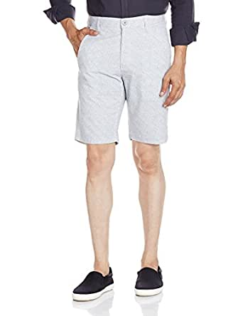 Indigo Nation Men's Cotton Shorts (8907372392899_13V00431_Medium_Grey)
