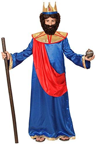 Biblische Kostüme (Biblischer König (blau) - Kinder-Kostüm - Kleinkind - Ages 4-5 -)