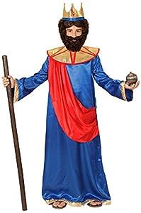 WIDMAN Rey Bíblico (Azul) - Disfraz Infantil - Niño - Edad 4-5 - 116cm