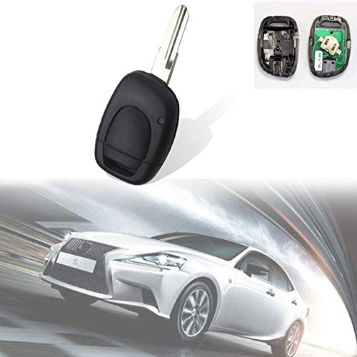 TUINCYN Keyless Entry Fernbedienung KFZ Schlüssel Sender Ersatz 433MHz pcf7946Chip Clicker Transmitter Schlüsselanhänger Ersatz mit 1Taste für Renault Twingo Clio Master Kango (1Stück) Clicker-sender