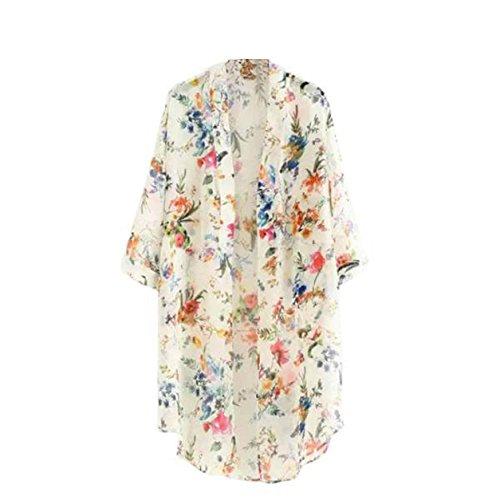 Malloom® Mujeres Floral Flor borlas mantón Kimono