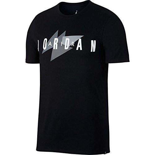 Nike m jsw brand 1, t-shirt uomo, nero/bianco, l