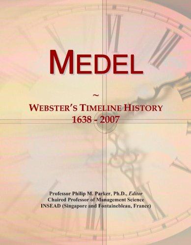 Medel: Webster's Timeline History, 1638-2007 por Icon Group International
