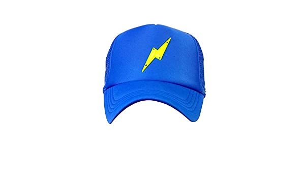 6fcc5c45144 NEON GREEN BOLT ROYAL BLUE Half Mesh Trucker Cap with Adjustable Snap   Amazon.in  Clothing   Accessories