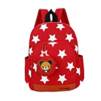 Flyingsky Durable Five-Pointed Star Bear Coin Purse Backpack for Kids