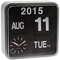 Karlsson - Orologio da parete a palette con funzione calendario - argentato