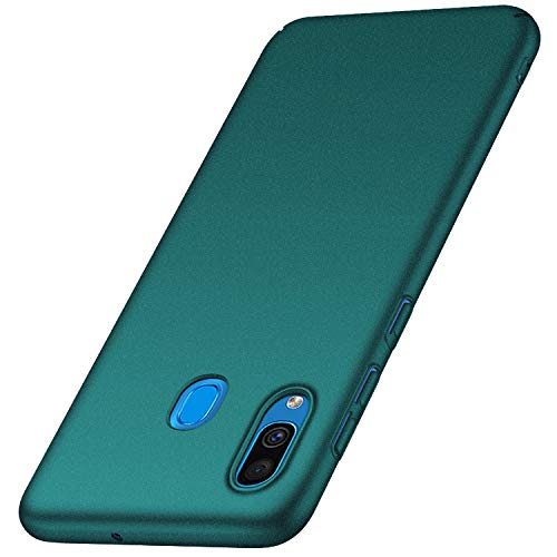 anccer Kompatibel mit Samsung Galaxy A20 Hülle, [Serie Matte] Elastische Schockabsorption & Ultra Thin Design für Samsung A20 (Kies Grün)