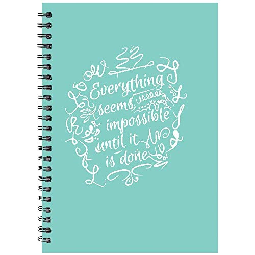 PRINTELLIGENT Plain 140 Pages Notebook - Personal Diary, Doodle, Notes, Planner - A5 Size - Wire Bound (Multi-Coloured)