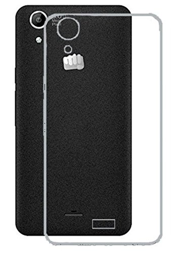 Tidel Silicon TPU Transparent Soft Back Cover For Micromax Canvas Selfie Lens Q345  available at amazon for Rs.89