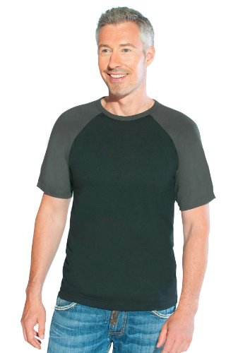 Raglan T-Shirt Herren Black Charcoal