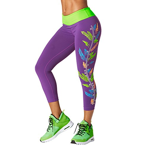 Zumba Fitness Damen Dancing Warrior Crop Leggings Frauenhose, Perfect in Purple, XS (Pants Beschnitten Dance)