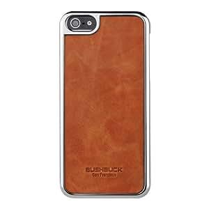 Coque de protection Baronage pour Apple iPhone 5 (Cuir Véritable Orange)