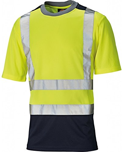 Dickies Two Toned HV T-Shirt, S, gelb, SA22081 -