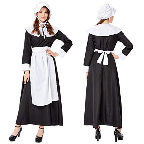 ToDIDAF Oktoberfest Dirndl Damen Kleid Bayerische Tracht Cosplay Kostüm for Oktoberfest Karneval Halloween Party Schwarz M (Bierkrug Damen Kleid Kostüm)