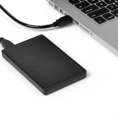 Tool-free-USB-30-External-CaddyEnclosure-For-25-Laptop-SATA-Hard-Drive-USB-Bus-Powered