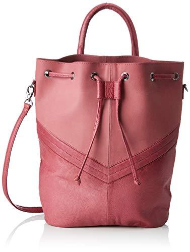 PIECES Damen Pcbella Leather Tighten Bag Rucksackhandtasche, Pink (Malaga), 12x31x24 cm
