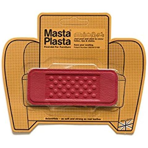 Rosso MastaPlasta autoadesiva in pelle riparazione Patch. Taglia A scelta/Design.