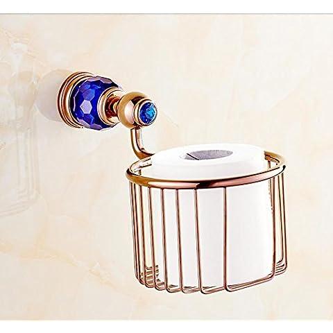 Stile contemporaneo montato a parete multifunzione per porta-carta igienica in ottone antico in acciaio inox porta-carta igienica lo stile per il bagno,fascino blu