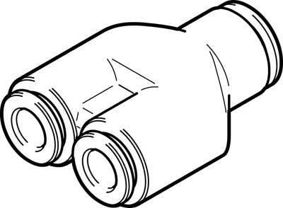 NPQH-Y-Q10-Q8-P10 (578415) Y-STECKVERBIND. Bau-größe:Standard Nenn-weite:7,5mm Einbaulage:beliebig