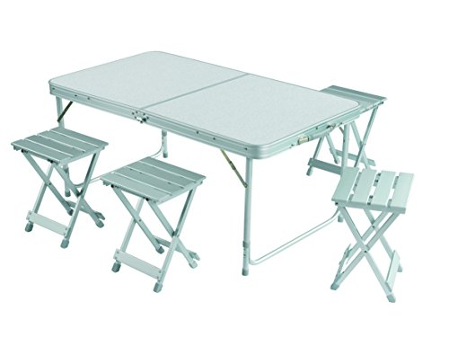 Grand canyon alu table set for set tavolo valigia pieghevole