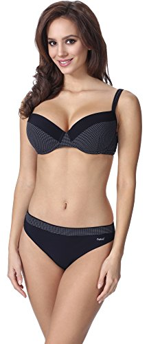 Feba Figurformender Damen Push Up Bikini F02 (Muster-345, Cup 90C / Unterteil 44)