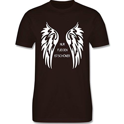 Motorräder - Nur fliegen ist schöner Flügel - Herren Premium T-Shirt Braun