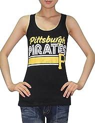 MLB Mujer Pittsburgh Pirates deportivo de cuello redondo Camiseta de (Vintage), MLB, mujer, color negro, tamaño extra-large