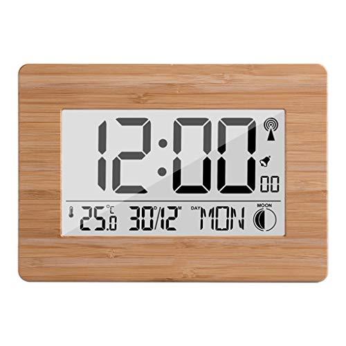 King Boutiques Weather Clock Temperatur Wanduhr Wetterstation Thermometer Digitaler Alarm LCD-Display Große Anzahl Von Heim-DCF-Uhren Haushaltsgegenstände