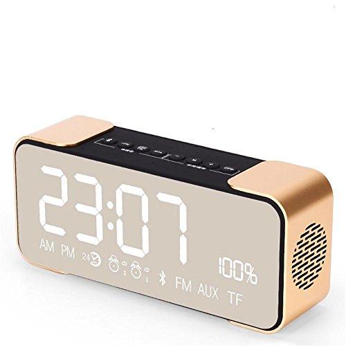 Bluetooth Altavoz inalámbrico estéreo de metal del cuerpo Mini portátil Bluetooth 4.2...