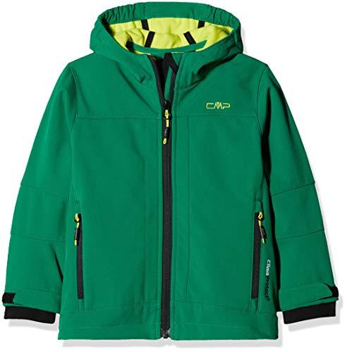 CMP Softshell Jungen Kapuzen Jacke, Emerald/Limeade, 128, 3A00094