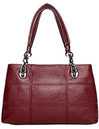222f7f526c39b Frauen-Designer-weiche Lederne Schulter-Handtaschen-Damen-Kunstleder-Taschen -
