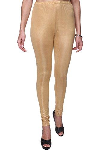 Trasa Shining Lycra Women's / Girls Full Length Churidar Golden Leggings -...