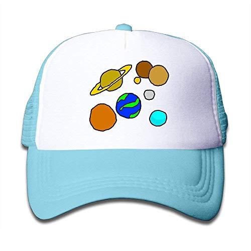 Cute Kids Solar System Cute Classic Adjustable Snapback Hats Mesh Baseball Hat Unisex Cap