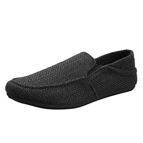 Vovotrade_scarpa da Uomo in Lino Traspirante. Mocassini Casual Scarpa