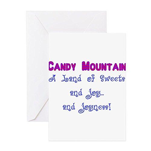 CafePress–Candy mountain für weiß. Png–Grußkarte, Note Karte, Geburtstagskarte, innen blanko, matt