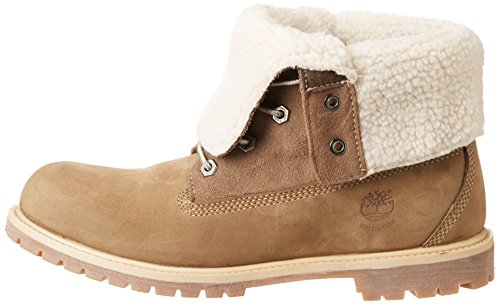 Timberland Womens Authentics Teddy Fleece Water Proof Fold Down  Boots C8330R Taupe 6 5 UK 39 5 EU