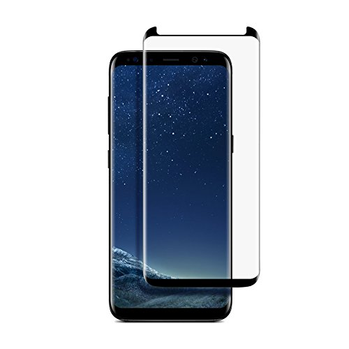 Stuffcool Samsung Galaxy S8 Full Covarage 3D Tempered Glass Screen Protector (Case Friendly & Edge to Edge)