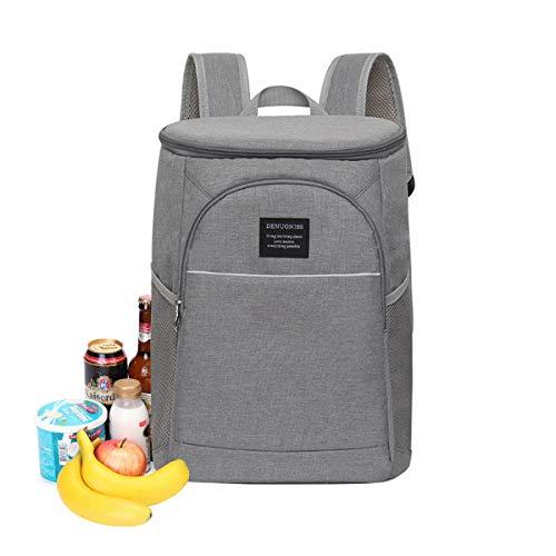 Kühltasche Picknicktasche Isolierte für Flaschen Multifunktion Große Thermotasche Rucksack Lunchbox Auslaufsicher für Aufbewarung des Warmen und Kalten Essen - Parteien/Picknick/Strand/Buffet,18L -