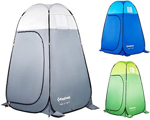 KingCamp Duschzelt Pop-Up Umkleidezelt Toilettenzelt Multifunktions-Zelt für Camping Wandern Reisen Klettern Strand Picknick Lagerung, 120 × 120 × 190 cm / 47,2 × 47,2 × 74,8 Zoll, Grau