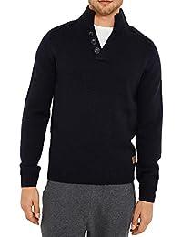 hommes Threadbare Tanner tricot épais pull de luxe laine mélangée raglan pulls