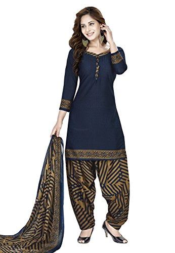 Raghavjee Sarees women's printed unstitched Patiala crepe dress material salwar kameez kurta...